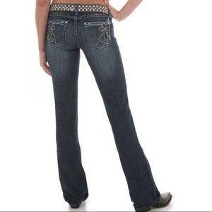 Wrangler rock 47 ultra low rise bootcut jeans